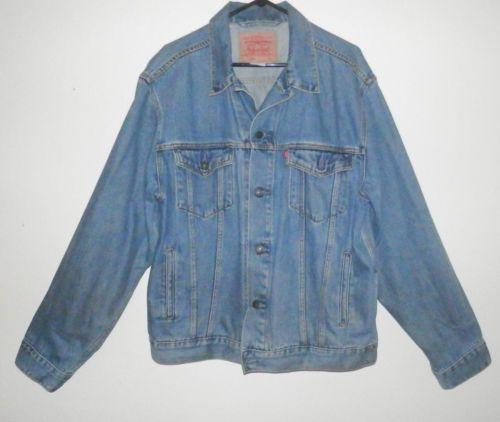 MEN-039-S-LEVI-039-S-70507-Denim-Trucker-Jean-jacket-Mens-Size-L
