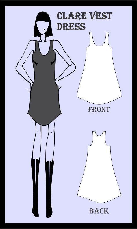 Clare Dress Sewing Pattern, athleisure fashion