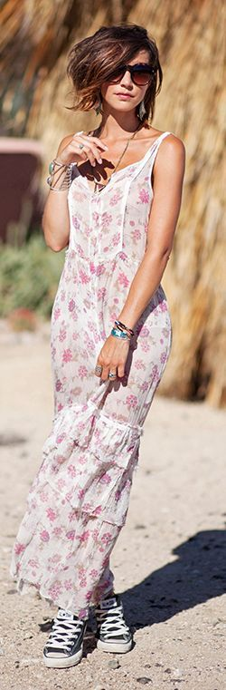 Les Babioles De Zoe Cute Retro Floral Maxi Dress                                                                             Source