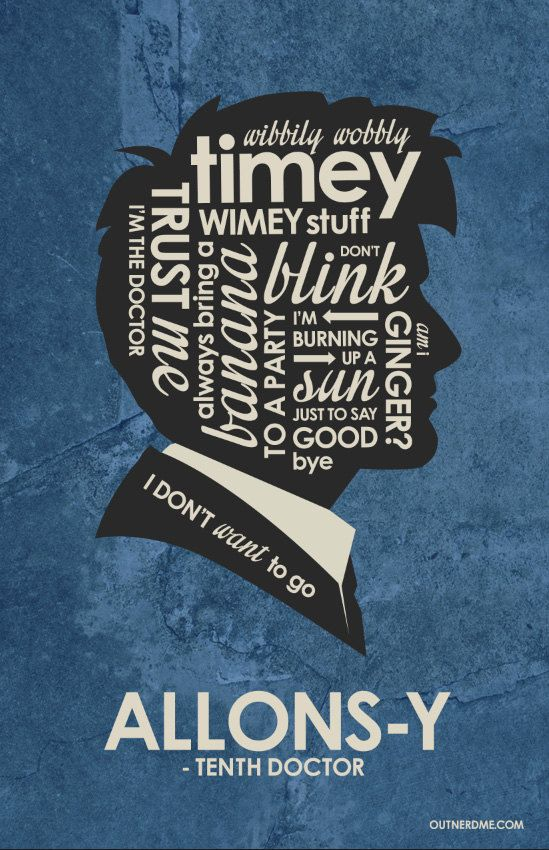 BBC Doctor Who Inspired Quote Poster Set by OutNerdMe on Etsy                                                                                                                                                                                 More