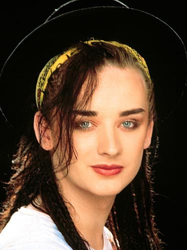 Boy George of Culture Club  Everybody talked about his fashion, but I really love his lyrics!