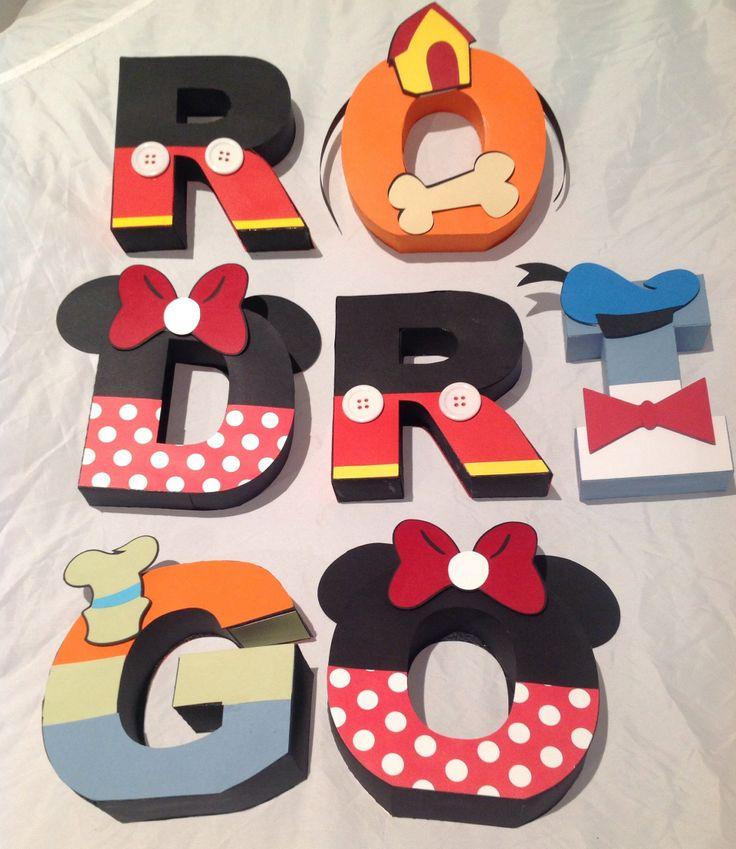 Letras personalizadas Mickey e sua turma