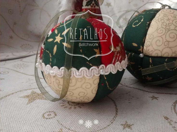 #christmas #balls #patchwork / #Bolas de Natal em patchwork #embutido