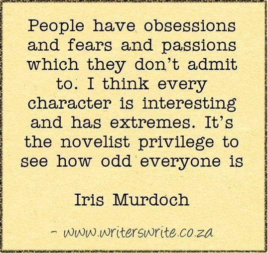 Quotable - Iris Murdoch - Writers Write