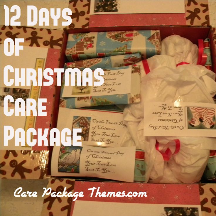 12 twelve days of christmas care package ideas