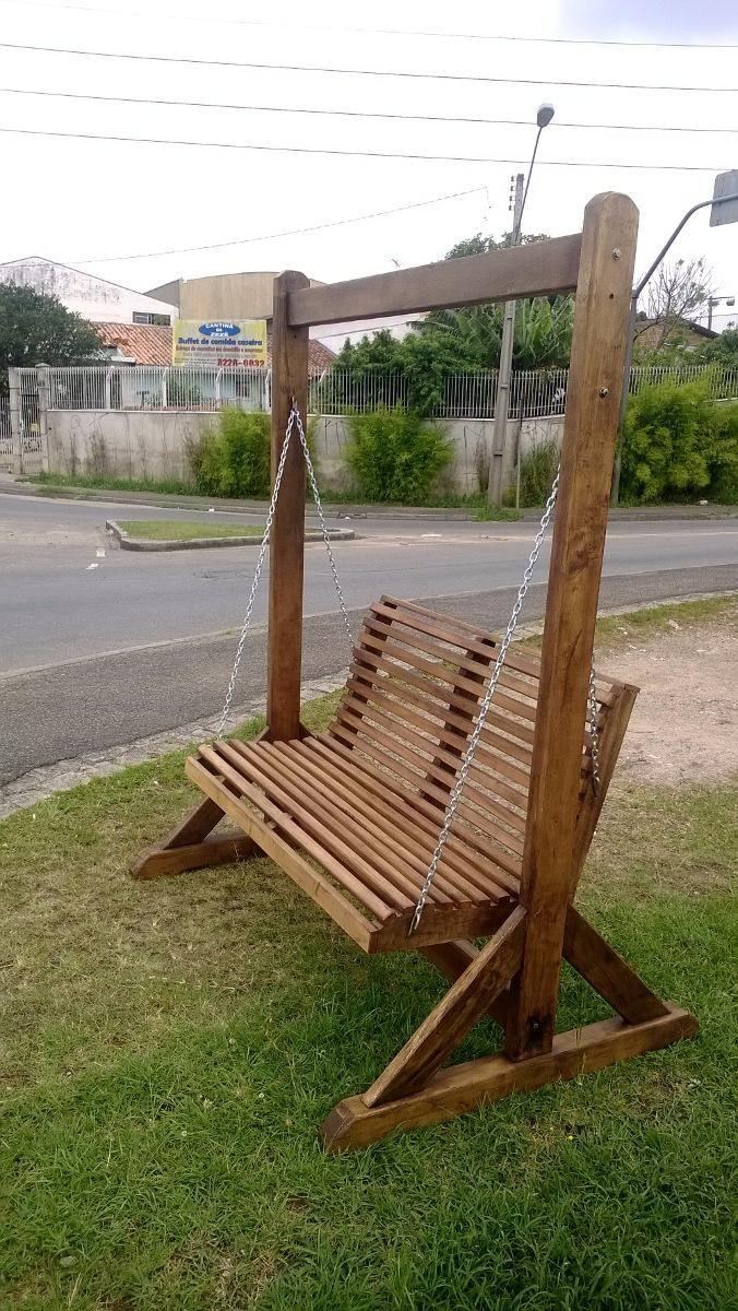 banco de balanço namoradeira de madeira maciça