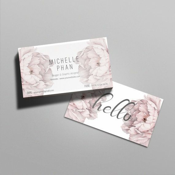 Floral business card template/card template/custom business card/ business card design/calling card/ modern business card/peony/elegant