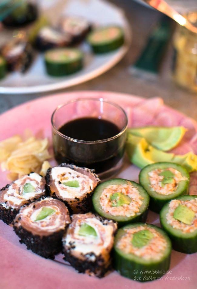 Gurkrullar med räkor & avokado