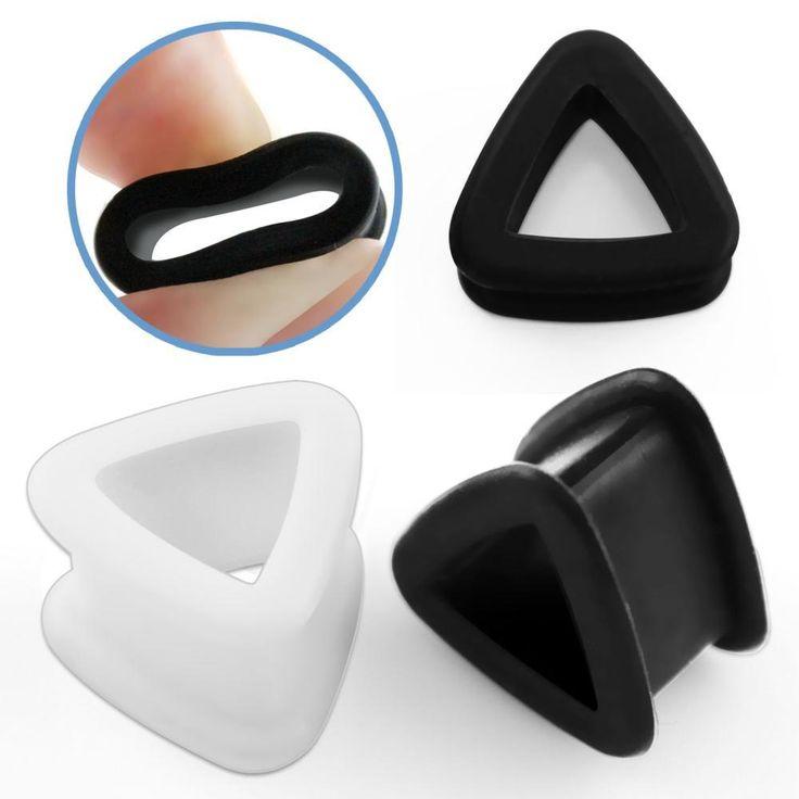 Style Sanctuary  - Triangle Shaped Silicone Flesh Tunnel Plug, £2.99…