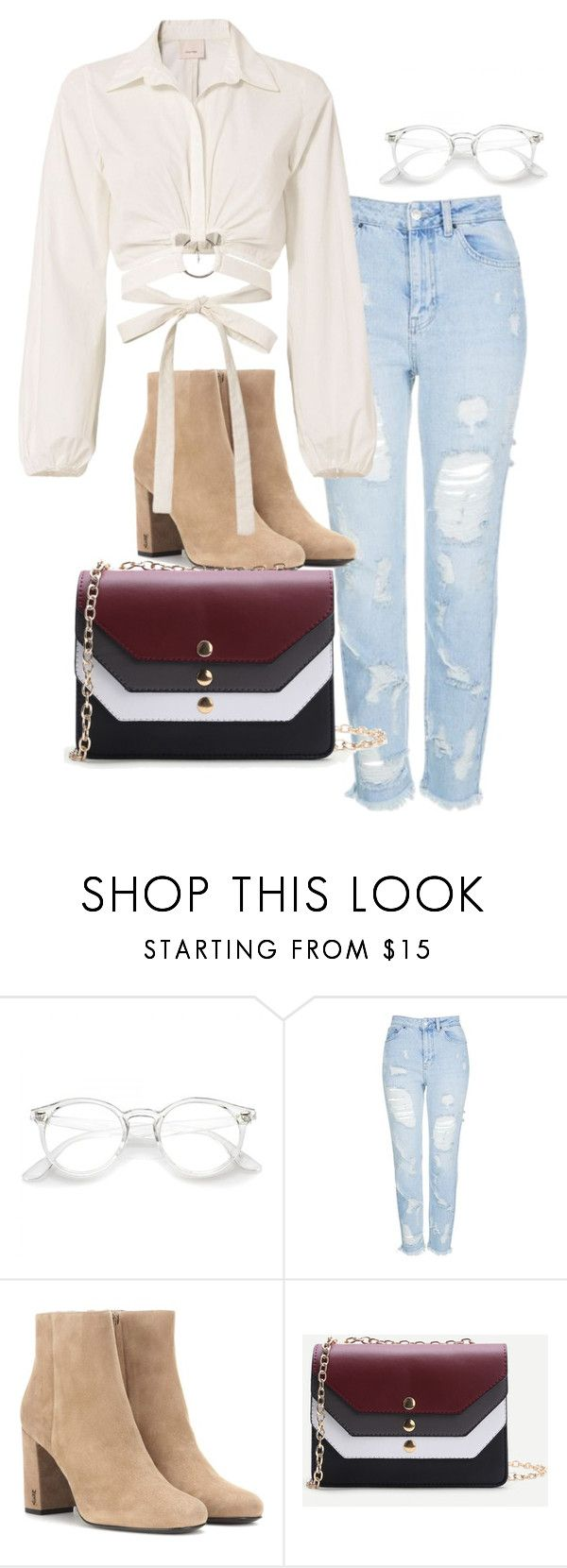 Untitled #52 by nicole-perestrelo21 on Polyvore featuring Cinq à Sept, Topshop and Yves Saint Laurent