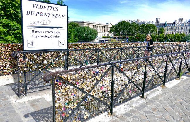 La mairie de Paris va mettre des panneaux sur le pont Neuf pour éviter qu'il ne soit envahi par les «cadenas d'amour».