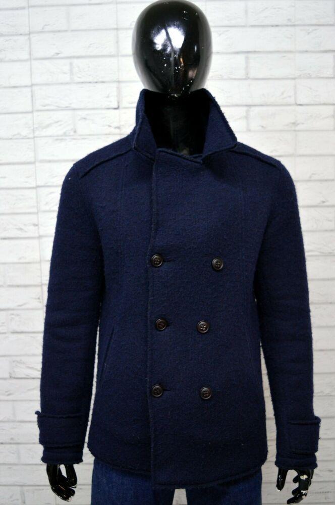 bc3c8a2c9cd6b7 Cappotto TOMMY HILFIGER Uomo Taglia Size M Giacca Jacket Man Giubbotto Blu  Lana