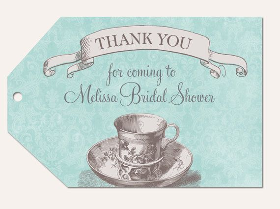 Bridal Shower Tea Favor Tags Printable by PartyPopInvites on Etsy, $8.00