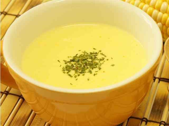 とうもろこしのスープ◇ミキサーなし夏野菜の画像