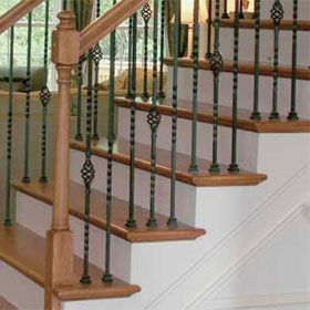 wrought iron stair spindles-pattern we chose for our latest project! Need to keep puppy from going over the edge! :)