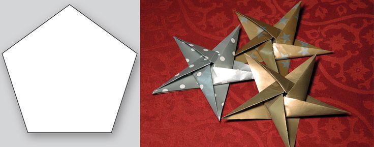 Femuddiga julstjärnor - enkelt julpyssel