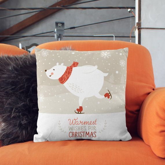 Winter Gift  Winter Pillow  Winter Throw Pillow  by wfrancisdesign
