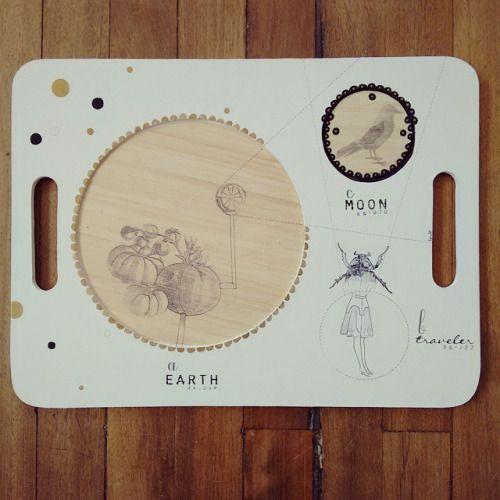 """ Mi primer viaje a la luna "" pieza única. Ilustrada a mano  #Himallineishon #art #illustration #moon #traveler #spacetraveler"