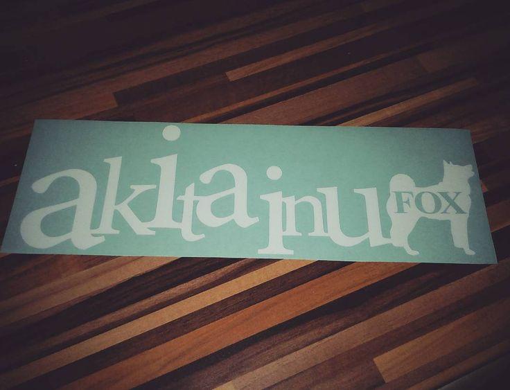 Nálepka akita inu | Sticker akita inu #akitainu #instaakita  #fox #nalepknaauto #nalepka #carsticker #sticker #dog #pes #obojkyblackberry.cz #akitaclub #japaneseakita #akitalove #akitalovers #lovemyakita