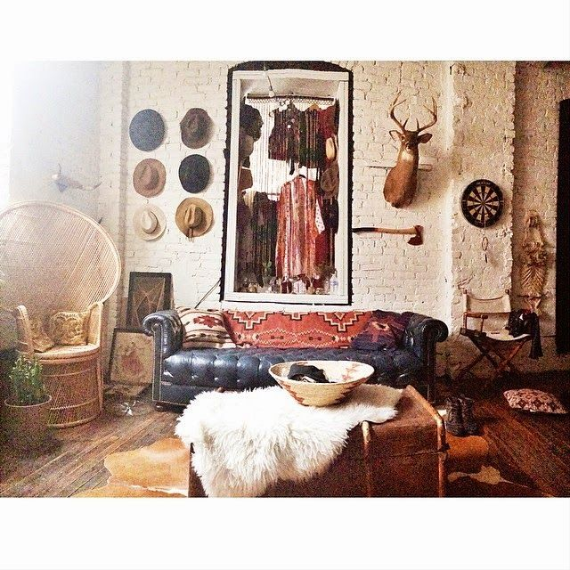 all the combinations are great  - hats, sheepskin, taxidermy, chesterfield, cane, chest etc etc