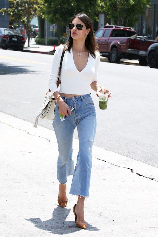 How A Top Model Wears Kick Flare Jeans
