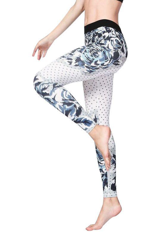 Flower Digital Printed Yoga Pants Womens Sport Leggings de sport femme  Fitness Leggings Brazilian Running Gym