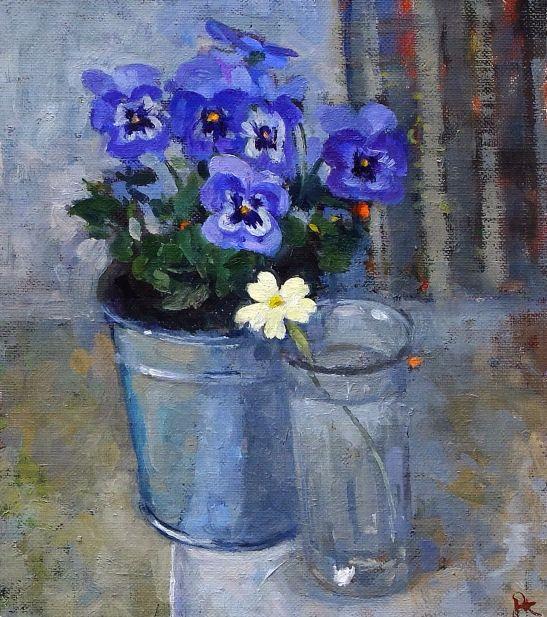 Violas and a Primrose (547x617, 402Kb)