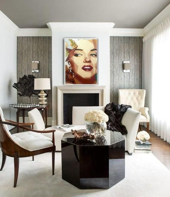 Portrait Marilyn Monroe Painting On Canvas Pop Art Modern Art On Canvas Wall Decoration Contemporary Artwork Acrylic Painting Home Art Decor In 2021 Interior Design Interior Home