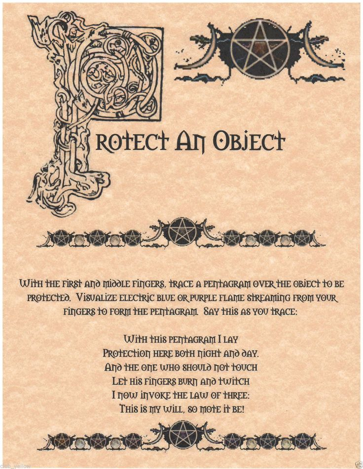 Real Spells From The Book Of Shadows Protection of o...