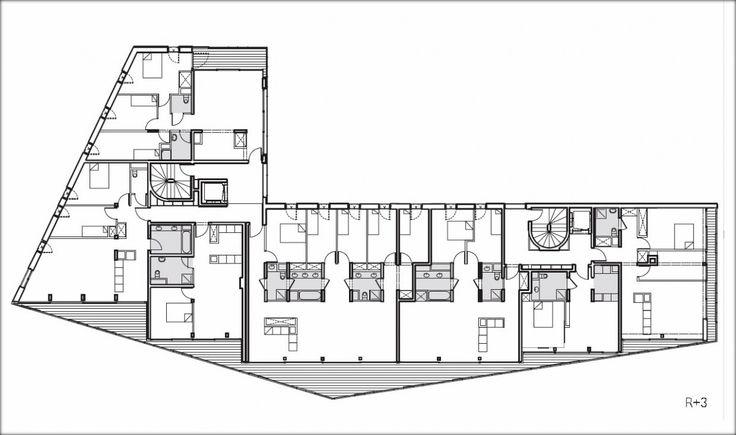 plan 3 etage logement paris massena 1200x710 Une façade en métal pour un immeuble flambant neuf : quartier Masséna à Paris