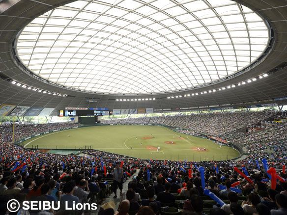 Seibu Dome, the home of the Saitama Seibu Lions. - on July 7, 2013 in Tokorozawa, Saitama.