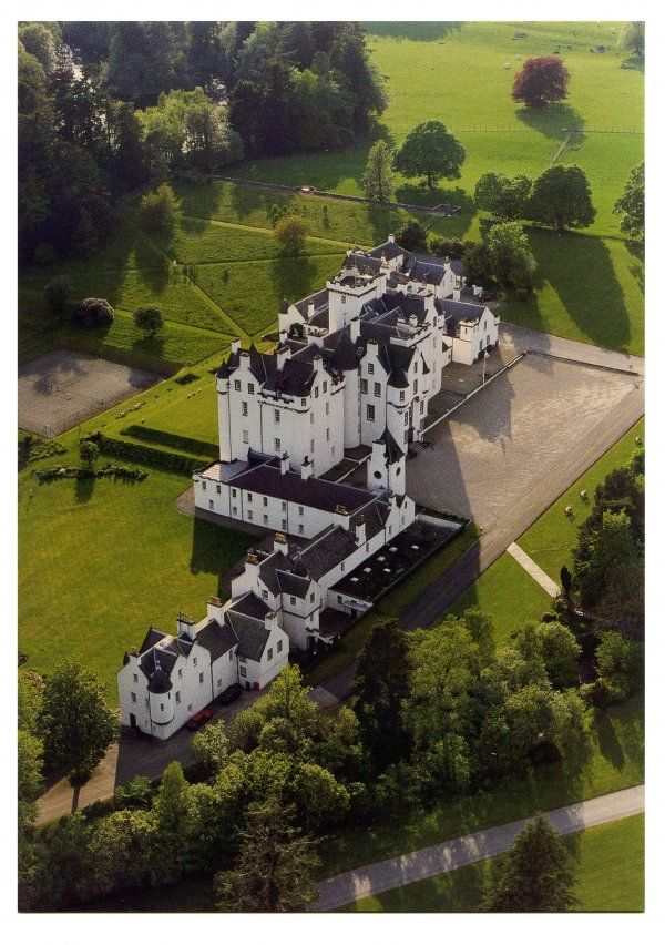Blair Castle, Scotland. Dating from 1290 is the family seat of the Dukes of Atholl for over 700 years