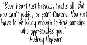 Audrey is such an inspiration