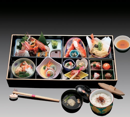 Kaiseki is a tradional Japanese dinner. It's nice and beautiful. http://en.wikipedia.org/wiki/Kaiseki