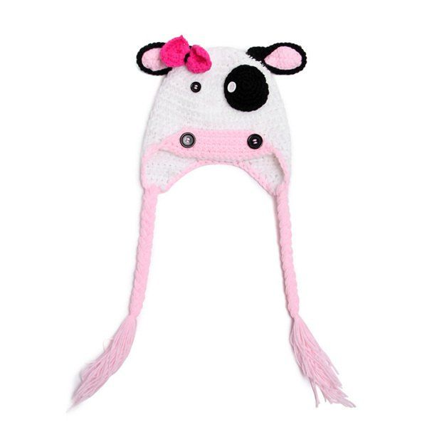 Fashion Bow and Netherlands Dairy Cattle Shape Crocheting Knitted Beanie For Kids #CLICK! #clothing, #shoes, #jewelry, #women, #men