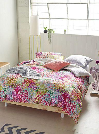 l 39 ensemble housse rayures lima duvet. Black Bedroom Furniture Sets. Home Design Ideas