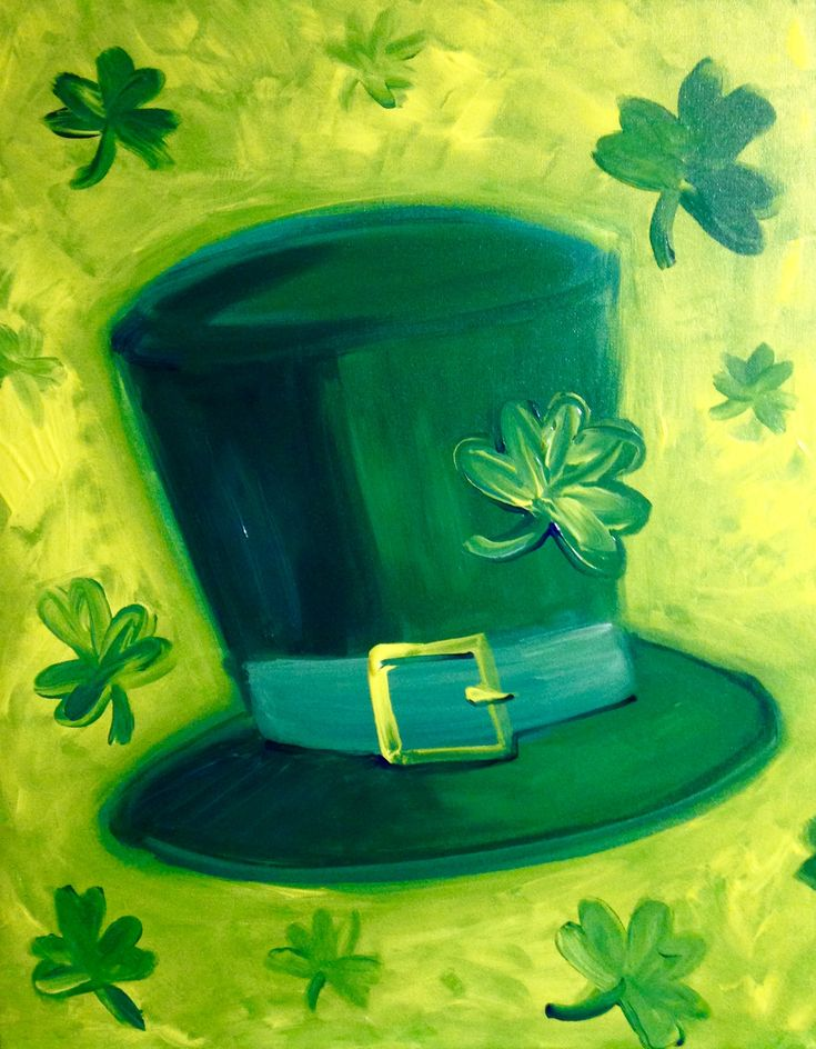 Leprechaun Hat at The Outlaw Saloon - Paint Nite Events near Ogden, UT>