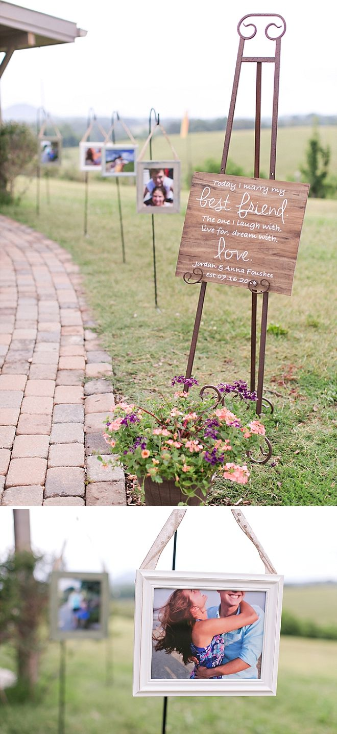 Such a cute aisle photo op for this darling couple!