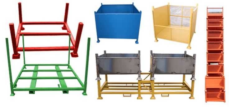 Scaffolding stillage, stillage of any type or purpose is purpose built industrial metal pallets / bins, used to house, separate and transport scaffolding.