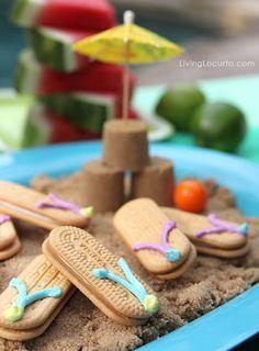 Chinelinhos super saborosos para festa com tema praia ou piscina. Legal!!! www.tudodebem.com.br