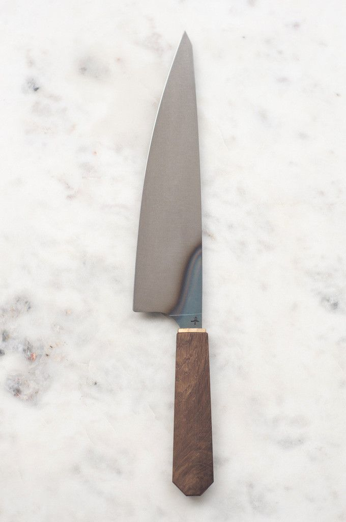It's often said that a chef's most important tool in the kitchen is his/her chef's knife. This Hohenmoorer Y2 Monostahl with its hand-forged blade and classic styling, is sure to become your most prized possession in the kitchen