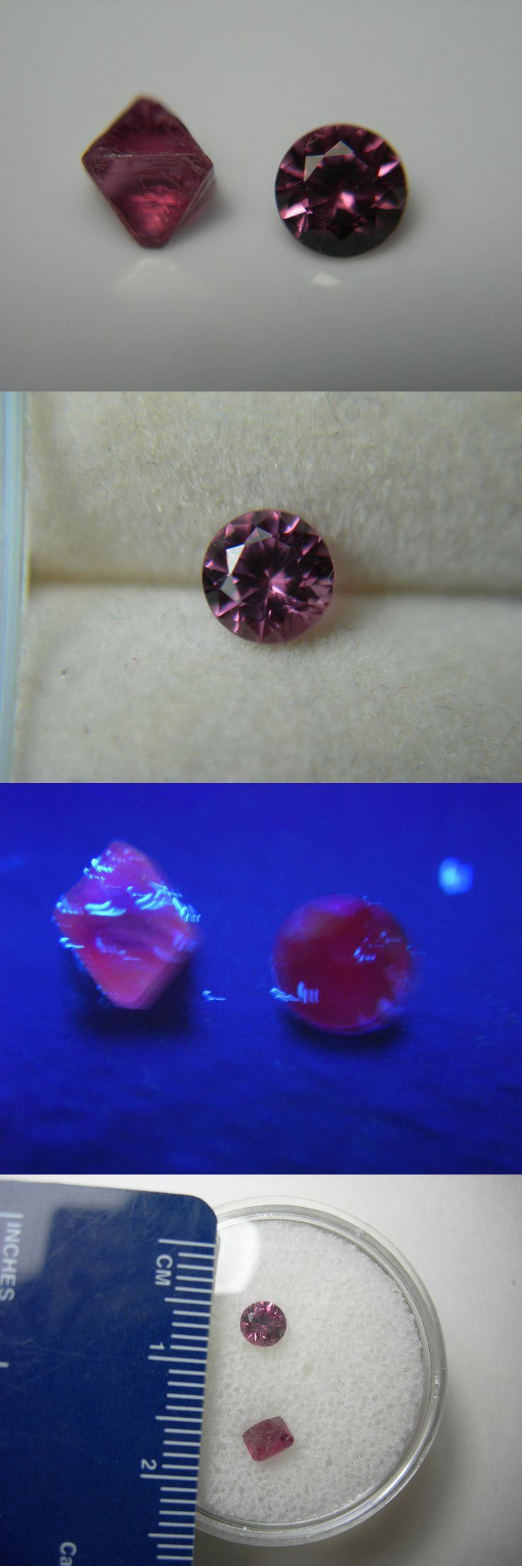 Spinel 110873: Rare Raspberry Purple Spinel Rough Cut Set Gem Mogok Burma Crystal Fluorescent A -> BUY IT NOW ONLY: $49.49 on eBay!