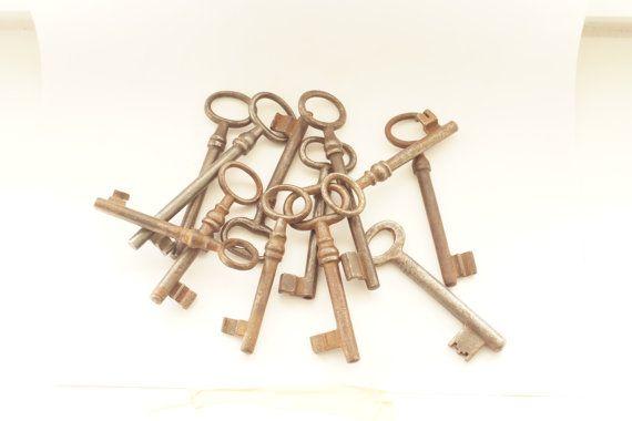 wholes sale vintage keys/set of 12/iron by AndrasVintagelane, $90.00