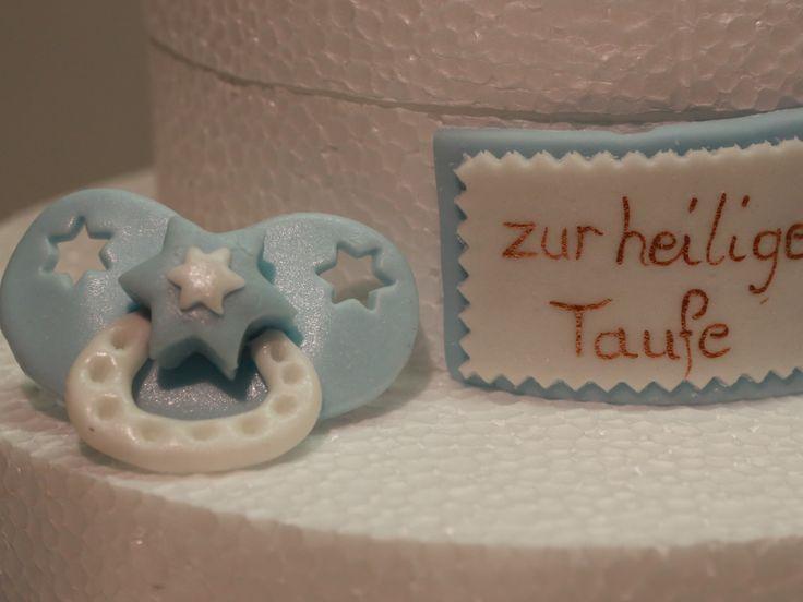 Schnuller Taufe Schild Torte