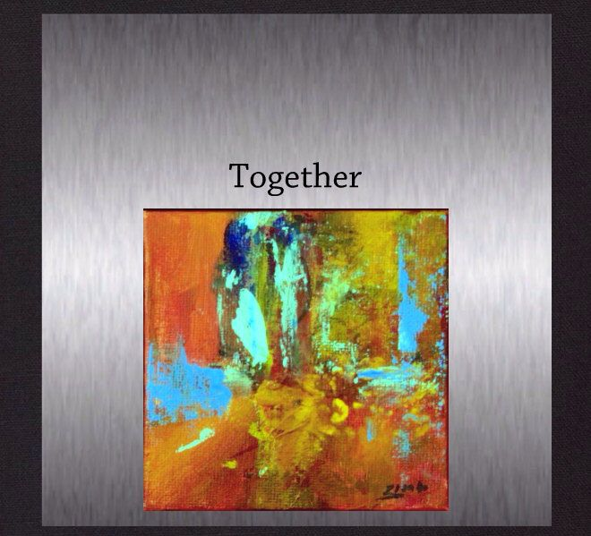 """Together - Colourful Original Abstract Art. Modern Hand Painted Painting not a print. Size 4""""x4"""". by ElcoStudio on Etsy"""