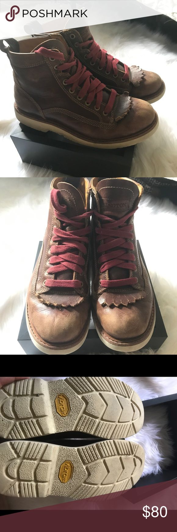 Timberland Abington Boot These are a Timberland Abington genuine leather boot. A little worn. They are a men's 8 but a women's 10. Laces are original. Abington is a sub brand I believe, purchased from the timberland website. Will take best offer Timberland Shoes Lace Up Boots