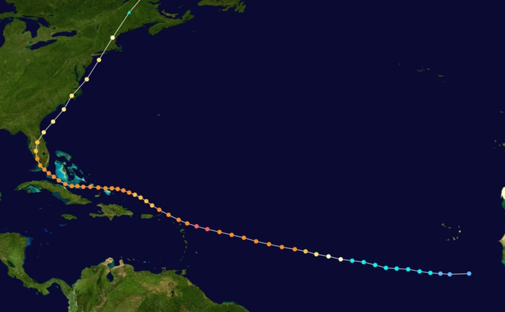 Pathway Hurricane Donna 1960