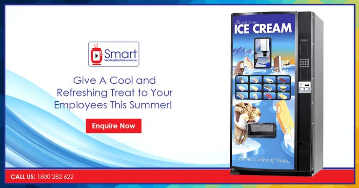 Are you planning to start your own ice cream vending business in Melbourne? Smart Vending Machine has got an great range of functional ice cream vending machines as your passive income source. These machines are perfect for depositories, offices and factory sites. Call us for great vending options and after sale customer services at 1800 282 622. Trust us! There is nothing more that would make your employees happier!