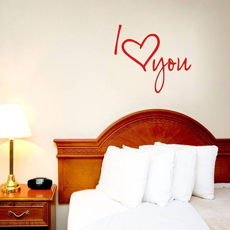 i love you vinyl wall sticker by mirrorin | notonthehighstreet.com
