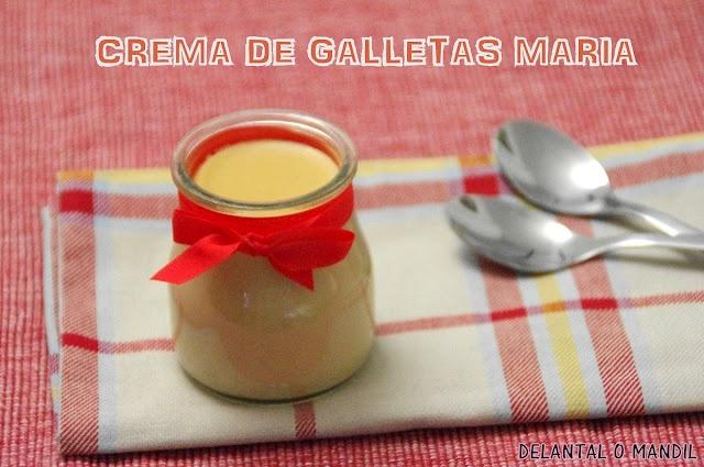 delantal o mandil: Crema de Galletas María